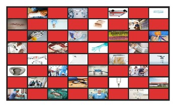 Hospitals and Injuries Legal Size Photo Checkerboard Game