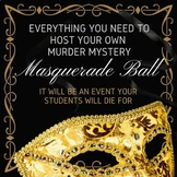 Host Your Own Classroom Murder Mystery Masquerade Ball!
