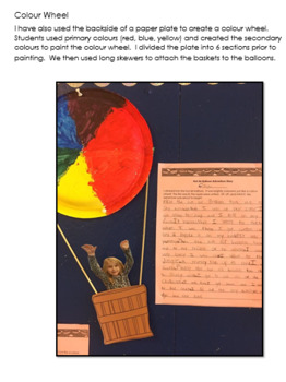 Hot Air Balloon Adventure Story & Art Activity