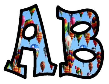 Hot Air Balloon Alphabet Bulletin Board Letters