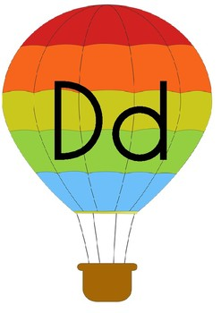 Hot Air Balloon Alphabet Posters