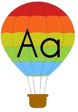 Hot Air Balloon Alphabet Posters