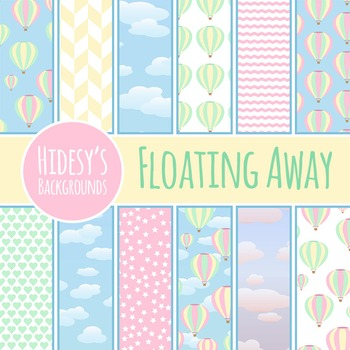 Hot Air Balloon Backgrounds / Patterns / Digital Papers Clip Art Commercial Use