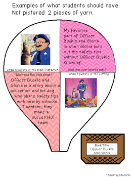 Hot Air Balloon Book Report Spring Craftivity!