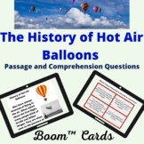 Hot Air Balloon  Boom™ Cards passage and comprehension que