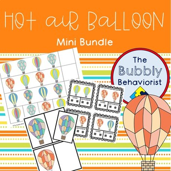 Hot Air Balloon Bundle: Identical Matching, Same + Different Cards, Patterns