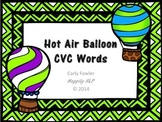 Hot Air Balloon CVC Words- Articulation, Phonology, Apraxia and Speech Therapy