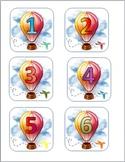 Hot Air Balloon Calendar Numbers