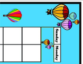 Hot Air Balloon Calendar. Hot Air Balloon Theme! Bulletin