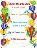 Hot Air Balloon Classroom Decor