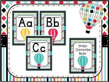 Hot Air Balloon Classroom Decoration Pack