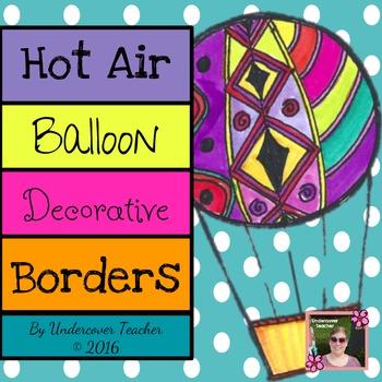 Hot Air Balloon Classroom Decorative Borders (Inspirational)