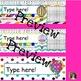 Hot Air Balloon Classroom Decorative Name Tags Plates {Editable}