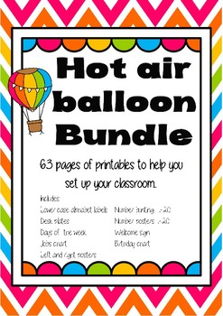 Hot Air Balloon Classroom Setup Bundle