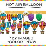 Hot Air Balloon Transportation Clip Art