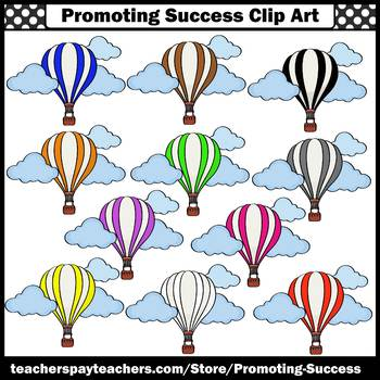 Hot Air Balloon Clipart for Spring Bulletin Boards SPS