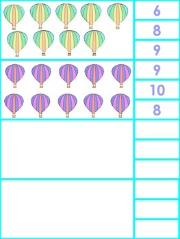 Hot Air Balloon Clip Cards for Number Sense