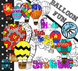Hot Air Balloon Clip art & Line Art