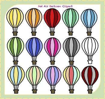 Hot Air Balloon Clipart / Balloon Clipart / Transportation Clipart