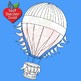 Hot Air Balloon Clipart, Black line, AMB-2383