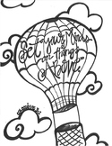 Hot Air Balloon Color Sheet