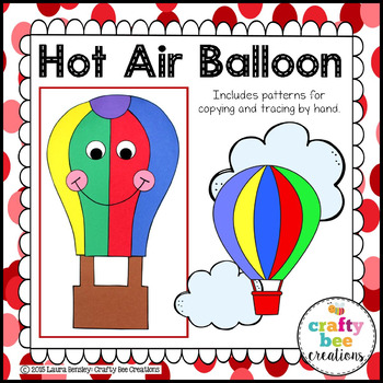 Hot Air Balloon Cut and Paste