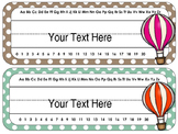 Hot Air Balloon Desk Tags/Name Cards {EDITABLE}