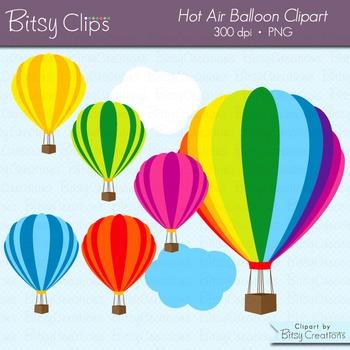Hot Air Balloon Digital Art Set Clipart Commercial Use Clip Art