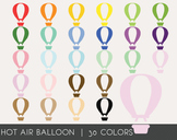 Hot Air Balloon Digital Clipart, Hot Air Balloon Graphics,