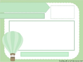 Hot Air Balloon Editable Checklist Templates with Timers