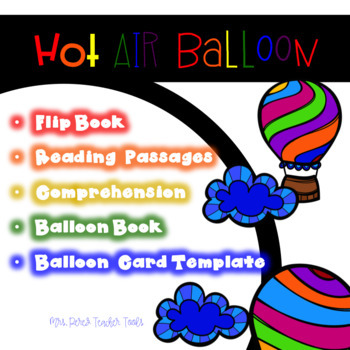 Hot Air Balloon Flip Book & Reading Passages