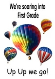 """Hot Air Balloon Full-Sized Poster for First Grade 21""""x30"""""""