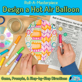 Hot Air Balloon Game | Art Sub Plans & Writing Prompts | Bulletin Board Ideas