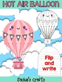 Hot Air Balloon - Jackie's Craft Activity, Writing Craftivity