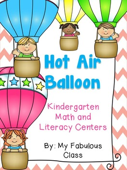 Hot Air Balloon Math and Literacy {Kindergarten Common Core Standards}