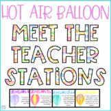 Hot Air Balloon Meet the Teacher Stations {Editable}