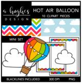Hot Air Balloon Mini Clipart Bundle {A Hughes Design}