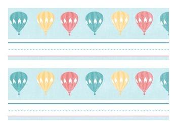 Hot Air Balloon Nameplates