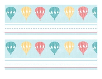 Hot Air Balloon Nameplates