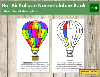 Hot Air Balloon Nomenclature Book
