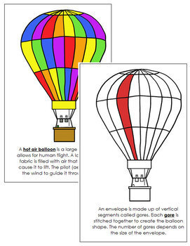 Hot Air Balloon Nomenclature Book - Red
