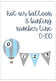 Hot Air Balloon Themed Number Line 0-100