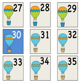 Hot Air Balloon Numbers