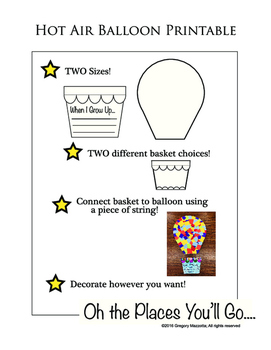 Hot Air Balloon Printable