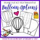 Hot Air Balloon Project for Spring, Beginning or End of the Year!