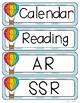 Hot Air Balloon Schedule Cards