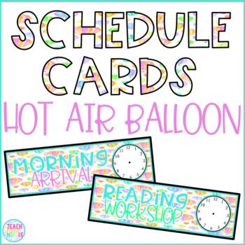 Hot Air Balloon Schedule Cards (Editable)