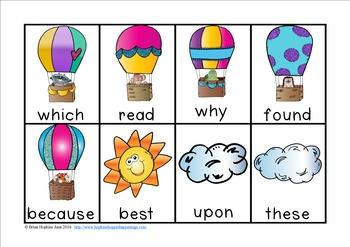 Hot Air Balloon Sight Word Race