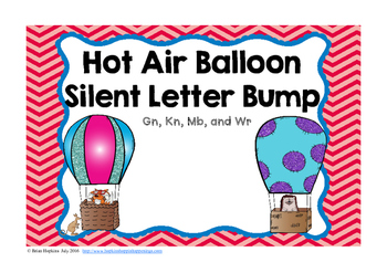 Hot Air Balloon Silent Letter Bump FREEBIE
