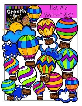 Hot Air Balloon Sky {Creative Clips Digital Clipart}